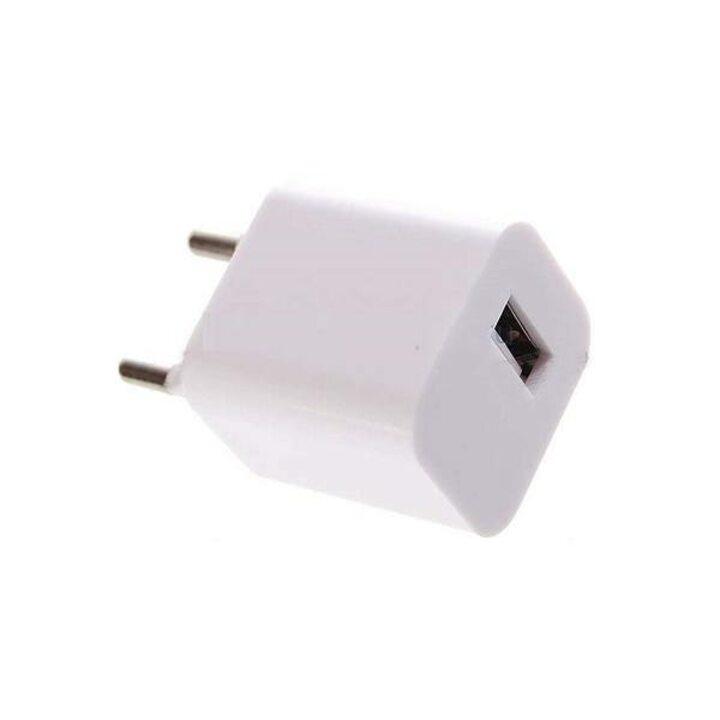 фото - REXANT Сетевое зарядное устройство квадрат USB (СЗУ) (1 000mA) белое (18-1914)